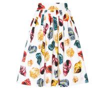 seashell print pleated skirt