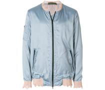 lightweight distressed bomber jacket