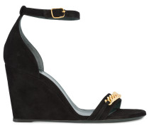 chainlink wedge sandals