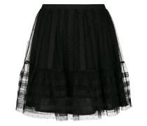 tulle pleated short skirt