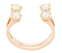 18kt 'Dots' Goldring mit Diamanten