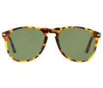tortoise-shell round sunglasses