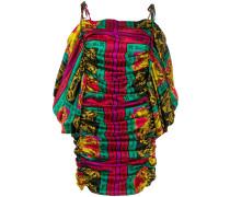 Gemustertes Kleid mit Raffung