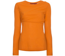 Carlucci long sleeve cotton jersey top