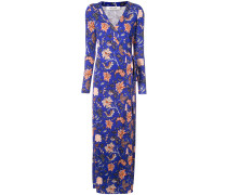 floral evening wrap dress