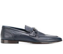 chain-detail penny loafers