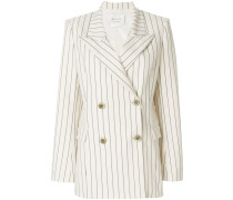 double-breasted pinstripe blazer