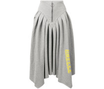 logo print asymmetric skirt
