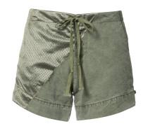 Shorts mit Satineinsätzen