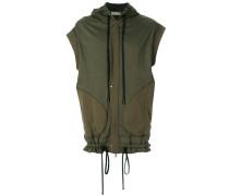 sleeveless zip hoodie