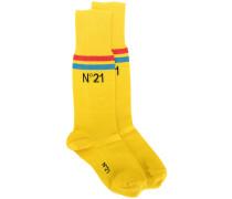 branded stripe socks