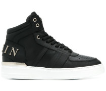 High-Top-Sneakers mit Logo-Applikation
