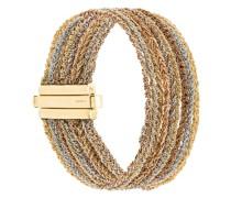 18kt gold 9 Strand Lazy Lucky bracelet