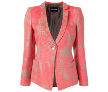fitted abstract print jacket
