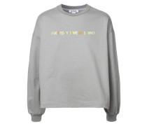 """Sweatshirt mit """"Everyday I wear """"-Stickerei"""