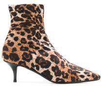 'Salomè' Stiefeletten mit Leopardenmuster