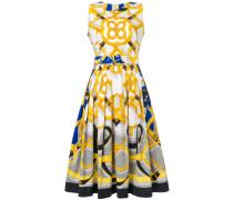 Bedrucktes Kleid mit Gürtel
