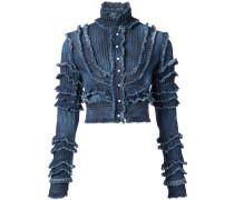 Jeansjacke mit Fransen