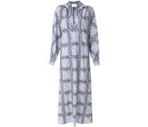 windowpane shirt dress