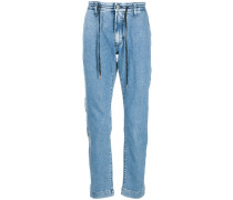 Jeans mit Logo-Streifen