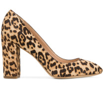 leopard printed chunky pumps