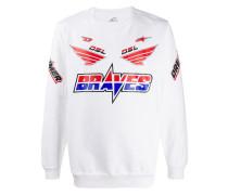 Sweatshirt mit Racer-Print