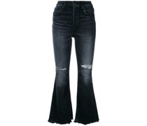 'W3 Higher Ground Gusset' Cropped-Jeans