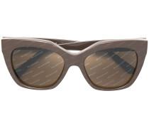 square frame logo sunglasses