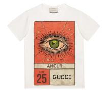 Amour eye print T-shirt