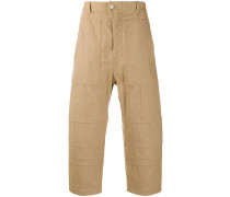 panelled culotte trousers