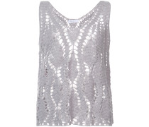 cashmere crocheted design top