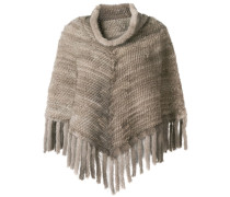 chunky knit poncho