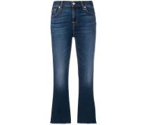 Bootcut-Jeans mit Stone-Wash-Effekt