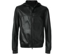logo embossed zipped jacket