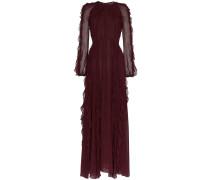 frilled sheer maxi dress