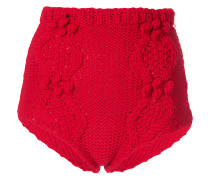 Shorts mit Strickmuster