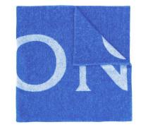 Strickschal mit Logo
