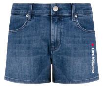 Jeans-Shorts mit Logo-Print
