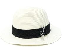 signature logo straw hat