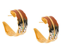 Emaillierte Ohrringe