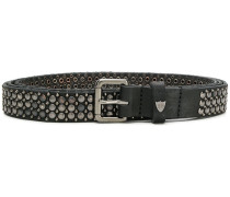 distressed studded belt