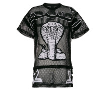 Oversized-T-Shirt mit Kobra-Print