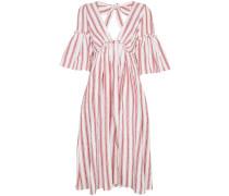 Linen Georgiana Stripe V-Neck Dress
