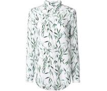 Seidenbluse mit Bambus-Print