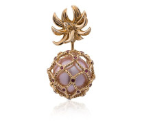 Yellow Pineapple Pearl and Gold Earring