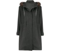 Mantel mit Faux Fur
