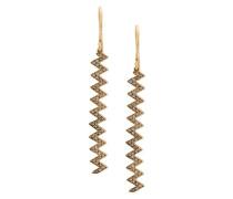 18kt yellow gold zigzag drop earrings