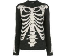 Jacquard-Pullover mit Skelettmotiv