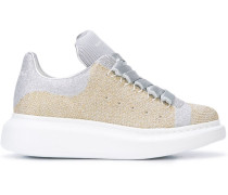 Oversized-Sneakers im Glitter-Look