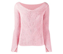 Grob gestrickter Pullover mit Nieten